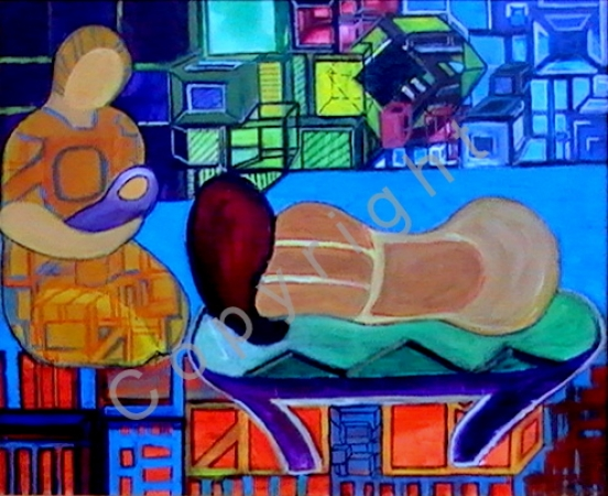 © Diana Seget - Geburt - 40 x 50 cm - Acryl - Preis: 450,-- €