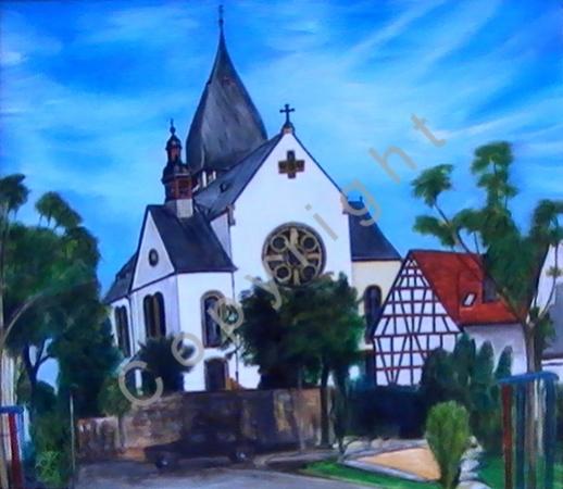 © Diana Seget - Hattersheimer Kirche - 60 x 80 cm - Acryl - Grand Premio Coppa Mundis 2005 - Preis: 850,-- €