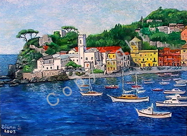 © Diana Seget - Italienische Insel - 50 x 70 cm - Acryl - Preis: 550,-- €
