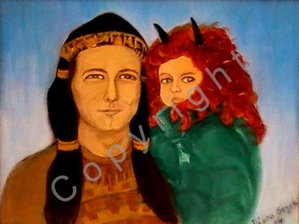 © Diana Seget - Karneval - 30 x 40 cm - Acryl - Grand Premio Internationale Genova 2005 - Preis: 480,-- €