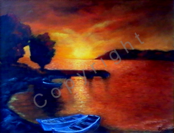 © Diana Seget - Sonnenuntergang - 60 x 80 cm - Acryl - Preis: 1.400,-- €