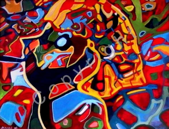 © Diana Seget - Versteckspiel - 60 x 80 cm - Acryl - Preis: 750,-- €