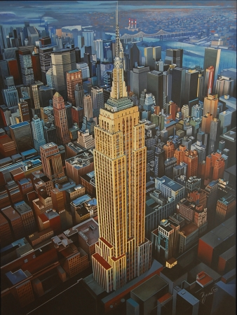© Udo Becker - Empire State Building, New York - Acrylfarbe auf Leinwand - 120 x 160 cm