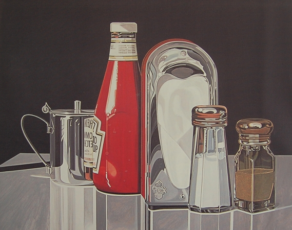 © Udo Becker - Ketchup, Salz & Pfeffer - Öl auf Leinwand