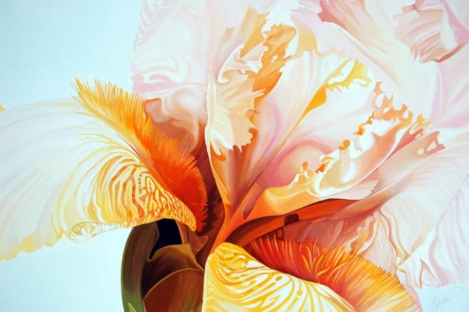 © Udo Becker - Schwertlilie - Öl auf Leinwand - 2010 - 90 x 120 cm