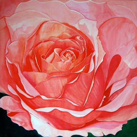 © Udo Becker - Rose - Aquarell - 2010 - 90 x 90 cm - Kunstdrucke erhältlich