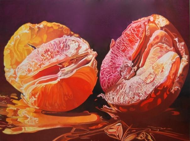 © Udo Becker - Grapefruit - Öl auf Leinwand - 90 x 120 cm