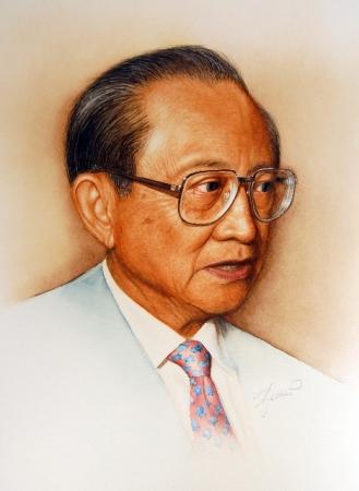 © Udo Becker - ehemaliger Präsident der Philippinen (Präsident Ramos) - Öl auf Leinwand - 2010