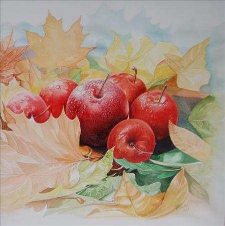 © Udo Becker - Äpfel auf Herbstlaub