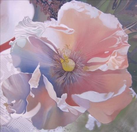 © Udo Becker - Fantasieblume - Öl auf Leinwand - 2010 - 70 x 70 cm - Kunstdrucke erhältlich