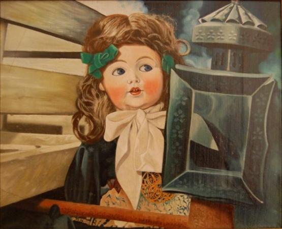 © Udo Becker - Puppe - Öl auf Leinwand - 30 x 40 cm
